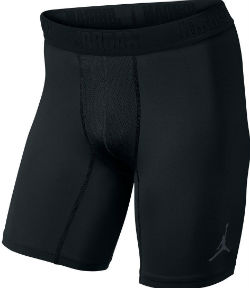 black jordan compression shorts