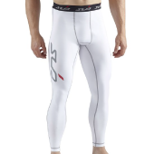 white sub sports compression pants